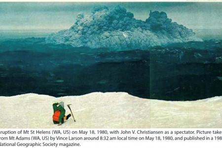 Eruption of Mt St Helens on May 18, 1980
